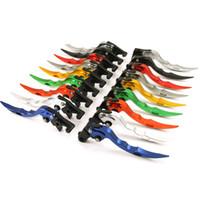 palanca de embrague ajustable motocicleta al por mayor-Palas de embrague de freno de estilo CNC de hoja ajustable para la mayoría de las motocicletas Palanca manual Aluminio Motocicletas Frenos Nuevo