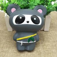 Wholesale Ninja Strap - 14CM Jumbo Ninja cat Squishy Toy Phone Straps Slow Rising Kids Xmas Toy Gag Gift Squeeze Anti-stress Accessories