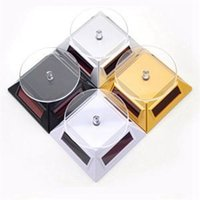 Wholesale Display Turntable Solar - Wholesale-Low Price Solar Rotation Showcase Solar Powered Turntable Rotary Jewelry Display Stand For Sale