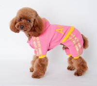 Wholesale Small Angels Sale - Hot sales Dog Apparel dog clothes cotton warm winter warm small dog clothes puppy dog clothes Angel letter 2 colors