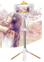 ingrosso stick selfie per nota-Monopiede Bluetooth Selfie Stick di 2a generazione Self-Portrait Stand estensibile per iPhone 6 6 Plus 5 5S 5C Samsung Note 5