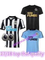 Wholesale United Soccer Shirt - top Thai quality 2017 2018 Newcastle United soccer jerseys 17 18 Mitrovic Perez Ritchie Gayle home away 3rd football shirts