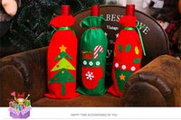 Wholesale Quality Wines Supplies - Christmas decoration fashion new DIY Party home Decor Red wine sets superior quality Festive Party Supplies 3 style Stickers 2017 wholesale