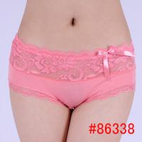 Wholesale Sexy Panties Names - #86338 New Desgin Yun Meng Ni Underwear Mature women bamboo underwear ladies panty brand names cotton lace panties