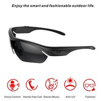 Wholesale Earphone Glasses - K2 Hands-free Smart Touch Control Sun Glasses Wireless Bluetooth Stereo Headset Earphones Sunglasses for iPhone Samsung HTC