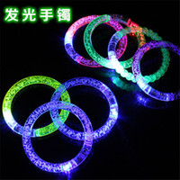 Wholesale Party Gifts Led Lights - LED bracelet light up flashing Glowing bracelet Blinking Crystal bracelet Party Disco Christmas Gift