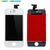 Wholesale Oem Phone Accessories - obile Phone Accessories Parts Mobile Phone LCDs OEM For iPhone 4S LCD Screen Display with Touch Screen Digitizer Assembly White Black + T...