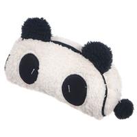 Wholesale Plush Animal Pencil Bag - Wholesale 10 *Auau Soft Plush Panda Pencil Phone Cute Cosmetic Case Portable Makeup Bag Pouch Purse Fashion Cosmetic Bag