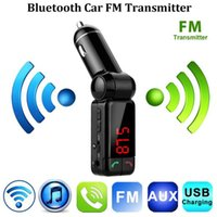 Wholesale Wireless Mobile Phone Charger Transmitter - Upgraded Bluetooth Car Kit BC06 FM Transmitter Wireless MP3 Player Modulator Handsfree LCD+Dual USB Charger For iPhone Mobile Phone