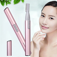 Wholesale Woman Leg Shaver - Female shaver Grade Electric Eyebrow Razor Attractive Blister Card Packaging Eyebrow Scissors Shaving Legs Ladies Trimmers Easy To Use