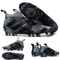 Wholesale Cheapest Kids Winter Shoes - 10 Colours 2016 ACE 16+ PureControl FG Men's Soccer Shoes Boots Men Cheap Ace16+ Purecontrol FGAG SnakeskinSnake Kids Soccer shoes