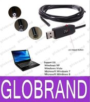 Wholesale Snake Micro Scope - New Waterproof 2M Cable 5.5mm USB Inspection Borescope Endoscope Snake Scope Camera Micro Cameras 6pcs LED free shipping GLO721