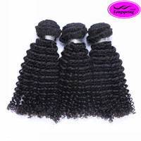 Wholesale Mongolian Kinky Curly Remy Weave - Brazilian Curly Peruvian Malaysian Indian Virgin Human Hair Extensions Natural Black Brazilian Kinky Curly Beauty Remy Human Hair Weaves