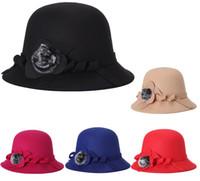 sombreros del cubo del vintage al por mayor-Moda mujer dama otoño invierno cálido elegante damas de punto cubo vintage sombrero de piel gorra