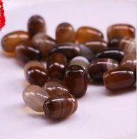 Wholesale agate barrel beads resale online - Agate Beads Gemstones mm mm Assorted Nature Sardonyx Barrel Waist Hand string beads Bracelet Beaded Jewelry Accessories Brown