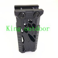 Wholesale Vertical For Grip - New Arrival Tactical Rail Forend Front Grip Flat Rail Vertical Foregrips 1913 Picatinny for 20mm Mount Picatinny Rail Mount for Airsoft