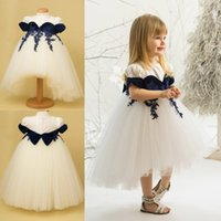 Princess Flower Girl Vestidos para Wedding Bow Applique Jewel Neck Sleeveless Girls Tiered Party Veste oi Loantante Vestido de baile