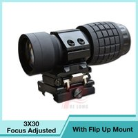 Wholesale Tactical Compact Guns - 3X Magnifier Scope Compact Tactical Sight with Flip to 20mm Rifle Gun Rail Mount RL6-0059