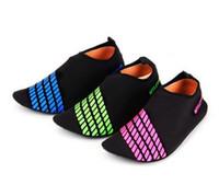 Wholesale pool fabric - Men Woman Barefoot Skin Sock Striped Shoes Beach Pool GYM Aqua Water Socks Beach Swim Slipper On Surf