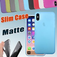 Wholesale Iphone Lens Cover - 0.3mm Ultra Thin Slim Matte Frosted Clear Transparent Soft PP Full Cover Lens Protection Cover Case for iPhone X 8 7 Plus 6S