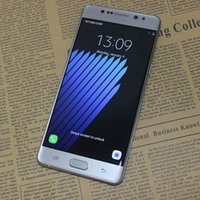 """Wholesale Note 8mp 8gb - Goophone Note 7 Quad Core MTK6580 Android 6.0 Smartphone 1GB RAM 8GB ROM 5.7"""" HD Curved Screen 1280*720 8MP 3G GPS Metal Frame Cell Phones"""