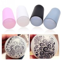 Wholesale Gel Nail Stamps - 1PC New Printing Silicone Super Soft Nail Art Silicone Gel Stamp Template Nail Art DIY Design Tool