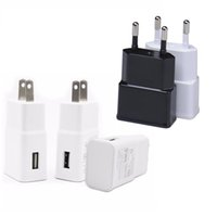Wholesale High Quality Solar Charger - High quality White Black Real Full 5V 2A USB Wall Charger Travel Adapter Eu US Power adapter for samsung s4 s6 s7 s8 note 8 4 for gps mp4