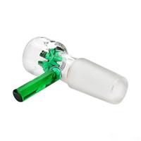 18.8 mm yeşil kase toptan satış-Yeni Cam bong Cam kase Yıldız Ekran Kase Yeşil 14mm 18.8mm Kuru kase tütün kase sigara borular renkli