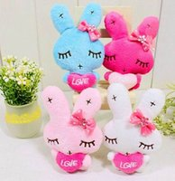 Wholesale Metoo Phone - 40pcs Lot Cartoon Metoo Rabbit With Love Plush Bunny Pendants Toys For Wedding Key Phone Bag Christmas Gifts