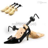 Wholesale Hotel Trees - Wholesale-New Arrival Women Mens 2-Way Shoes Tree Stretcher Wooden Shaper Length Width Adjust S M L Fashion