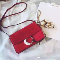 Wholesale Camel Suede Handbag - 2017 Women Lady Sue suede Leather Patchworked Original C Top Quality Genuine Leather Bag luxury handbags women bags desigFlap messenger Bags