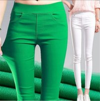Wholesale Push Pencil - Top Selling Slim Fitness Women Hip Push Up High Waisted Elastic Legging Pants Sexy Pencil Stretch Jeans Skinny Jeggings CL031