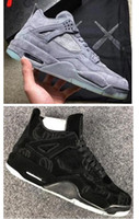 Wholesale Glow Day - New Retro 4 KAWS x Men Kaws XX Cool Grey Glow Basketball Shoes 4s KAWS Black Sneakers High Quality With Shoes Box