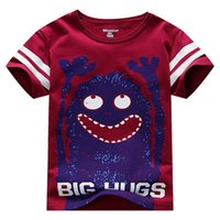 Wholesale Tees Kid Cartoon Clothes - little maven Children T-Shirts Baby Boy T Shirts Big Hugs Cartoon Baby Boy Clothes Tee Shirts Kids Short Sleeve Cotton