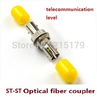 Wholesale ST ST The telecommunication level st optical fiber coupler flange flange head connector adapter