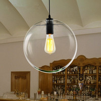 küre kolye lambası toptan satış-Modern İskandinav Parlaklık Küre Kolye Işıkları Cam Top Lamba gölge Asılı Lamba E27 Süspansiyon Mutfak Işık Fikstür Ev Aydınlatma