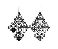 Wholesale Earwire Earrings - Chantilly Lace Chandelier Style Filigree Fish Hook Dot Earwire Earrings