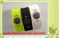 Wholesale Evolution Silicone Bracelet - (50pcs lot) Free Shipping Fashion Energy Power Silicone Wristband Bracelets perforated Evolution silicone bands wristband Fashion jewelry