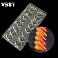 Wholesale chocolate decorating - Lotus Water Drops Shape Pc Polycarbonate Chocolate Mold 3d Cookies Candy Mould Home Diy Cake Pastry Baking Decorating Tool Tray
