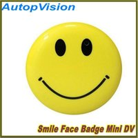 Wholesale Digital Mini Car Mp3 Player - Cute Smile Face MP3 Player with Clip + Mini DV Hidden Car DVR Spy Camera Digital Video Recorder Hidden HD Pin Pinhole Camera