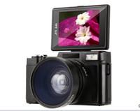 цифровые камеры dslr оптовых-2018 новые 24MP HD Half-DSLR профессиональные цифровые камеры с 4-кратным телеобъективом, широкоугольный объектив Fisheye Camera Macro HD Camera
