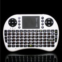 Teclado QWERTY 2.4G Wireless Mini Air Mouse Combo ruso Inglés para PC Notebook Touchpad teclado de Android TV Box inalámbrico
