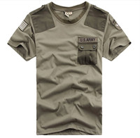 Wholesale Knight Brand Shirts - New Brand Free Knight Outdoor U.S. Army Men's Short Sleeve T Shirt Airborne Tee Shirts Summer Cotton Tops High Quality M-XXXL
