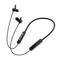Wholesale Earphones Iphone High Quality - High quality headphones neckband bluetooth sport stereo wireless headsets metal magnet Noise Cancelling earphone for iPhone Cell phones