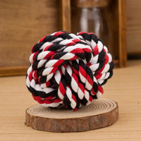 Wholesale Dog Ball Toy Squeak - New Design Pets Rope Ball Toys Bite Ball Colorful Squeak Toys Dog Wool Ball Toys 3 Size Pet Puppy Chew Toys