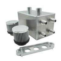 tank kraftstoffpumpen großhandel-Universal Silber Aluminiumlegierung Kraftstoffdruckausgleichbehälter Y Block Halterung Fit Dual Kraftstoffpumpe 3L 044