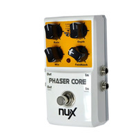Wholesale Nux Core Pedals - Original Product NUX AS-3 Phaser Core Phase Shifter Modulation Stomp Effect Pedal Tone Lock Preset Function True Bypass guitar parts