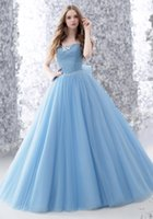 Wholesale Strapless Tulle Ballgown - Tulle Sleeveless Strapless Ballgown Prom Dresses Sweep Train Beads and Crystals Prom Evening Dresses Vestidos Do Baile De Finalistas
