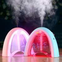 NEW Mensagem Board LED Light USB umidificador ultra-sônico DC 5V 400ML Creative Gift Air Purificador Mist Maker Purificador Atomizer