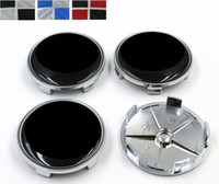 68mm 5 pinos Fibra de carbono Preto / branco Azul / Branco Preto / Vermelho Car Wheel Center emblema Badge Auto Wheel Hub Rim Caps Logo